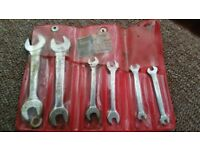 Old britool open ended small short spanner set