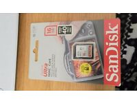 SanDisk Ultra SDHC Card 16GB memory card brand new in packaging