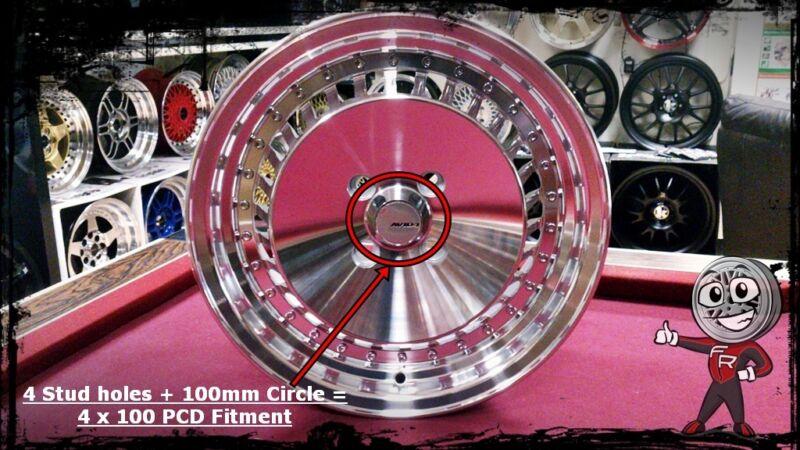 4x100 Single PCD Alloy Wheel
