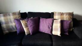 Scottish tartan country house style cushions