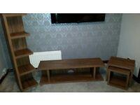 Livingroom furniture. Dark oak .