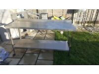 Catering kitchen stainless steal table