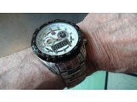 mans quality watch military style digital and analogue,brand new in box,quality look and feel.
