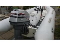 Narwhal 4.5m rib boat inflatable with Mariner 60hp outboard