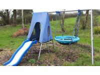 Nest swing and slide without tent
