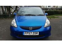 2007 HONDA JAZZ SE 1.4ltr MANUAL, 5DR, BLUE, FULL HISTORY + MOT, 67k miles