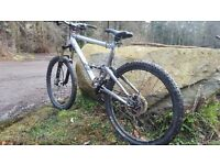 Full suspension mountain bike bicycle mtb Gary Fisher cake 2 dlx