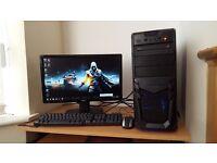 High Spec Fast Gaming PC Quad Core Microsoft Windows 7 8GB RAM 1TB Hard Drive