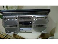 Large Phillips cassette radio player...great condition