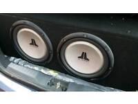jl audio 2 x 12inch subwoofers