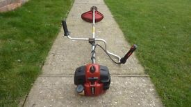 Jonsered/husqvarna professional cowhorn petrol strimmer with harness