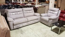 Light grey sofa THREE AND ONE seater, Only £399 | RRP £800