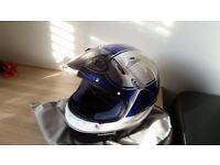 ARAI VIPER GT SIZE LARGE - MOTORCYCLE HELMET - SUZUKI GSXR - BLUE/WHITE VGC