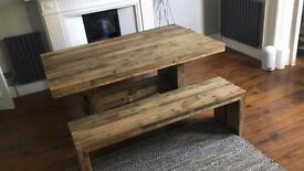Brand New West Elm Dining Table and Bench For Sale