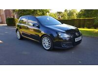 2008 VW Golf Mk5 Gt Tdi Sport 170 Black 5 Door Full Black Leather Sunroof
