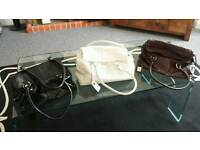 Leather Handbags - Black Patent, Soft Brown Leather and White Soft Leather new £35.00
