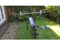 Everlast Weight Bench & 40KG Weight Set: £40