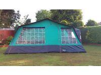 Large 6 berth canvas tent