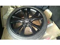 4 black alloys vauxhall