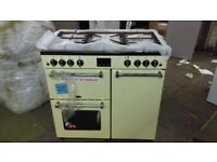 BELLING 90 cm Dual Fuel Range Cooker - cream