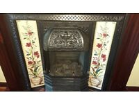 Cast Iron Fire Surround with tiles