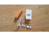 Portable 2500mAh Power Bank in good condition
