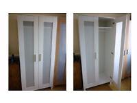 white IKEA double wardrobe, CAN DELIVER