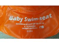 Mothercare Baby Swimseat Stage 1, Orange, 3-12 months