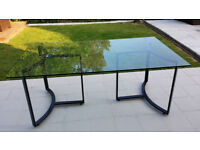 Dining table - Steel and Glass - Habitat