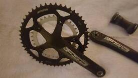 FSA Omega megaexo compact chainset and bottom bracket. 50/34, 172.5mm cranks