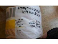 Recycled plastic loft insulation
