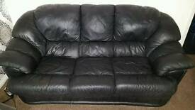 Used 2 piece leather suite (3 seater sofa and chair) in good condition