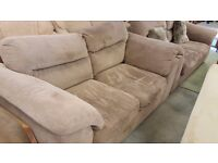 Fabric 3 & 2 Seater Sofa in Excellent Condition