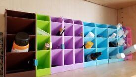 MAKEUP COSMETIC ORGANISERS mini display makeup storage holder stand (£1 each)