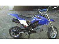 50cc mini dirt bike blue