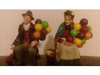 Royal Dalton Balloon Seller. Man & Woman