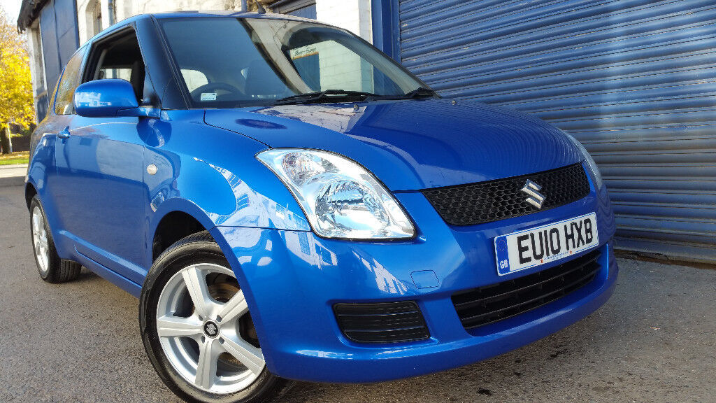 2010 SUZUKI SWIFT 3DR GL 1.3 BLUE LOW MILEAGE IMMACULATE CONDITION