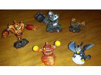 Skylanders Giants . Bundle of 5- Bouncer. Crusher. Lightcore Eruptor. Bash. Sonic Boom.