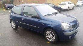 1.2 renault clio 2004year 79904 mile history mot 07/11/2017 history 3month warranty 12month aa cover