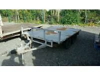 good kays 8ftx5ft 1500kg tandem axle trailer comes with steel ramps no vat