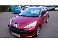 2007 PEUGEOT 207 S 1.4 MET RED 5 DOOR HATCHBACK LOVLEY CONDITION MAY 2017 MOT 84K NEW SERVICE CD EW