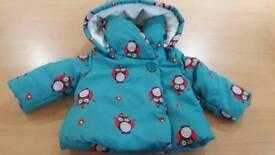 John Lewis Girls Jacket 6 -9 months