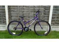 Ladies purple mountain bike