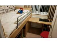 Childens midsleeper Bed with desk