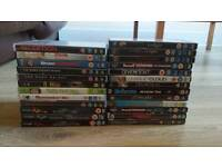 25 mixed dvds