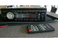Car stereo USB CD remote