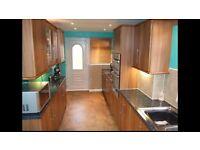 Full kitchen including dishwasher, ceramic hob, sink, integrated fridge freezer
