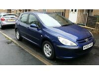 "******* PEUGEOT 307 1.4 DIESEL HDI 2002 ""12"" MONTHS MOT ALSO TAXED £30 TAX A YEAR. £375........****"