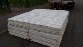 SuperKing Size bed. Quick Free Delivery. Complete with super king mattress. 6ft wide . 4 draws.