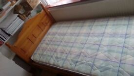 Single bed with matress to sell